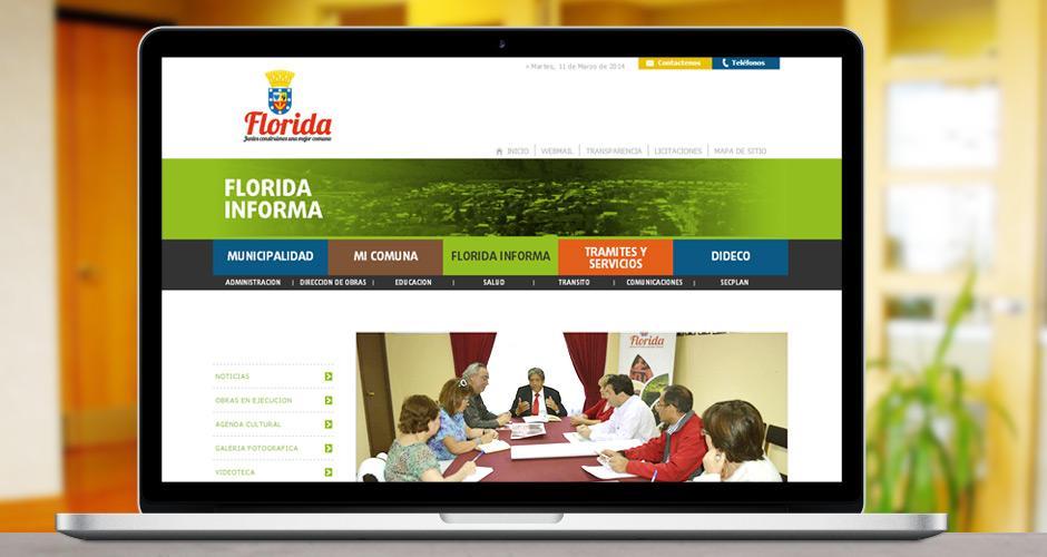 Sitio web Municipalidad de Florida